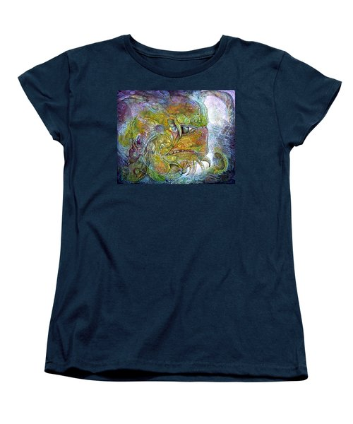 Women's T-Shirt (Standard Cut) featuring the painting Offspring Of Tiamat - The Fomorii Union by Otto Rapp