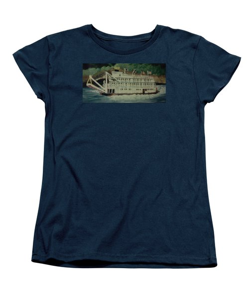 Ohio Riverboat Women's T-Shirt (Standard Cut) by Christy Saunders Church