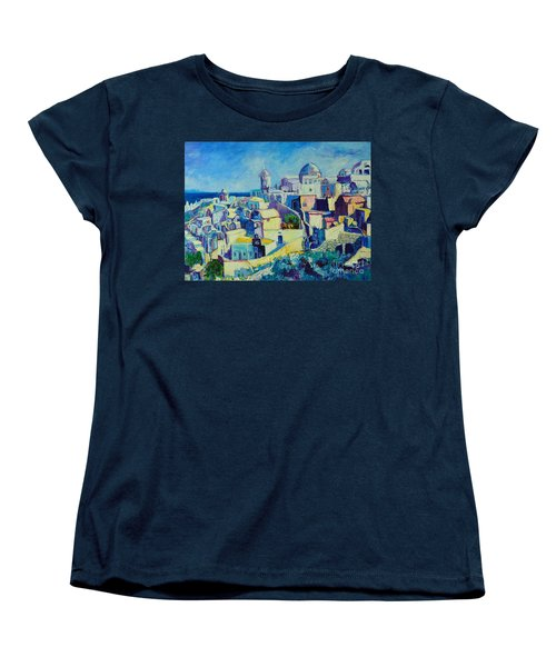Women's T-Shirt (Standard Cut) featuring the painting OIA by Ana Maria Edulescu