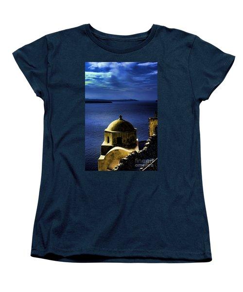 Oia Greece Women's T-Shirt (Standard Cut) by Tom Prendergast