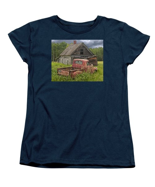 Old Abandoned Homestead And Truck Women's T-Shirt (Standard Cut) by Randall Nyhof