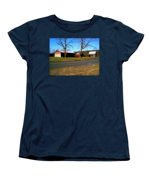 Old Barn Women's T-Shirt (Standard Cut) by Amazing Photographs AKA Christian Wilson