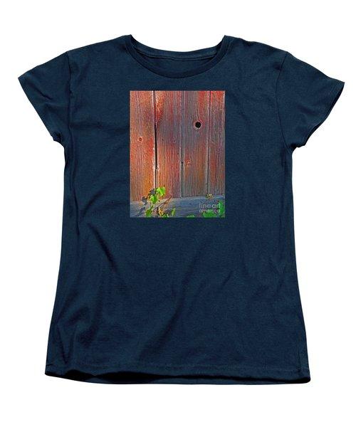 Women's T-Shirt (Standard Cut) featuring the photograph Old Barn Wood by Ann Horn