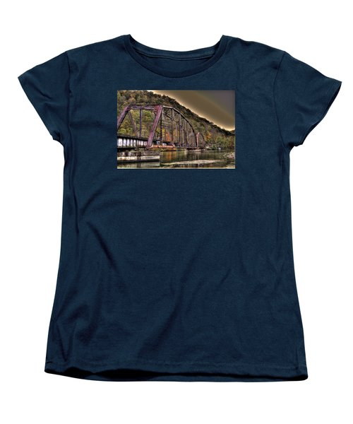 Women's T-Shirt (Standard Cut) featuring the photograph Old Bridge Over Lake by Jonny D