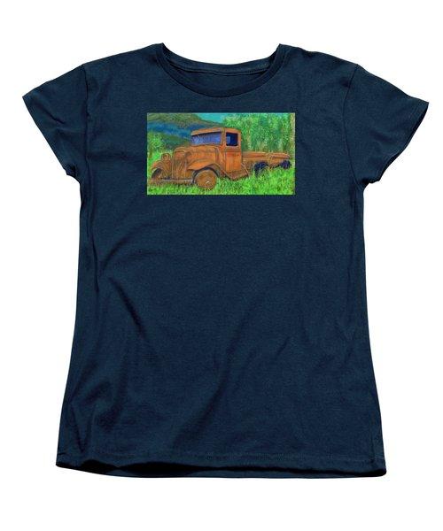 Old Canadian Truck Women's T-Shirt (Standard Cut) by Hidden  Mountain