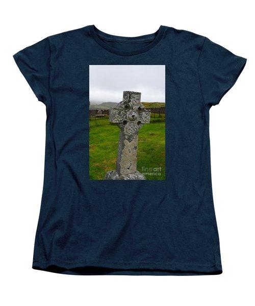 Old Cemetery Stones In Scotland Women's T-Shirt (Standard Cut) by DejaVu Designs