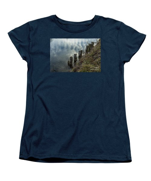 Old Dock Supports Along The Canal Bank - No 1 Women's T-Shirt (Standard Cut) by Belinda Greb
