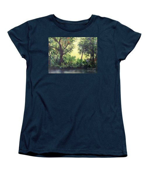 Women's T-Shirt (Standard Cut) featuring the painting Old Florida 2 by Mary Lynne Powers