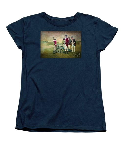Women's T-Shirt (Standard Cut) featuring the digital art Old Fort Niagara by Lianne Schneider