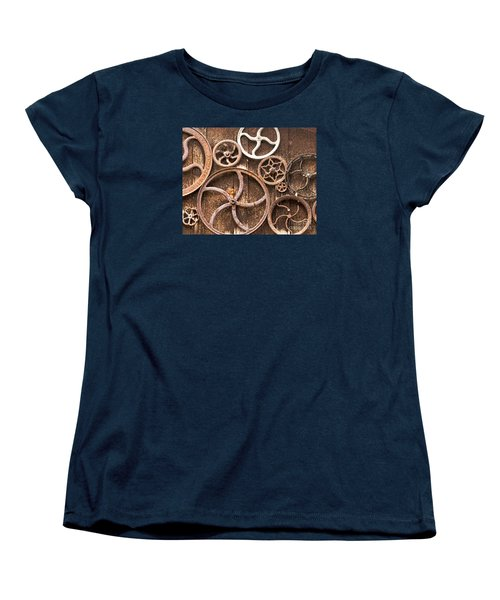 Old Gears In Genoa Nevada Women's T-Shirt (Standard Cut) by Artist and Photographer Laura Wrede