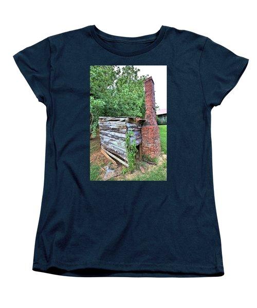 Women's T-Shirt (Standard Cut) featuring the photograph Old Georgia Smokehouse by Gordon Elwell