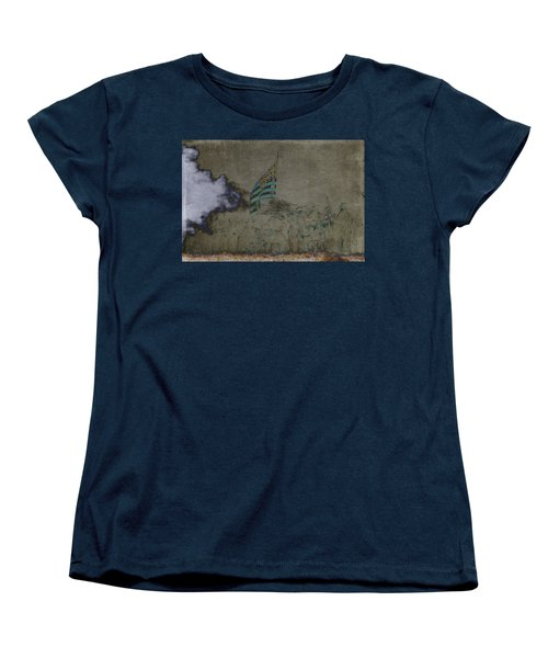 Old Glory Standoff Women's T-Shirt (Standard Cut) by Wes and Dotty Weber