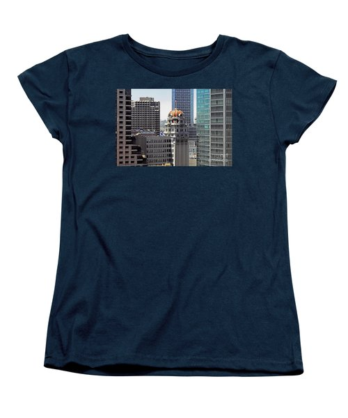 Women's T-Shirt (Standard Cut) featuring the photograph Old Humboldt Bank Building In San Francisco by Susan Wiedmann