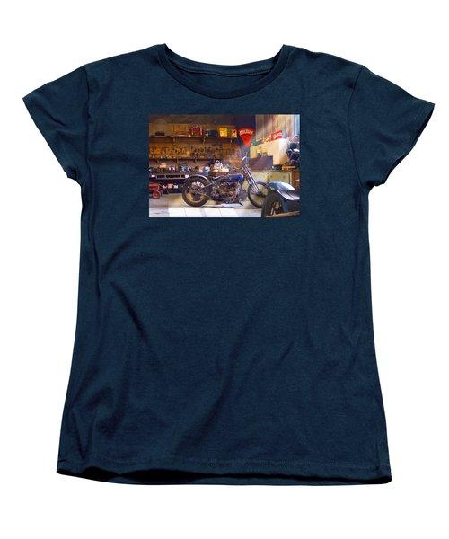 Old Motorcycle Shop 2 Women's T-Shirt (Standard Cut) by Mike McGlothlen