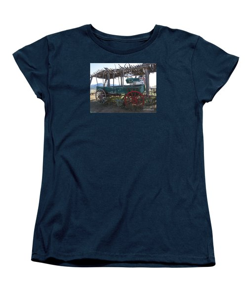 Women's T-Shirt (Standard Cut) featuring the photograph Old Native American Wagon by Dora Sofia Caputo Photographic Art and Design