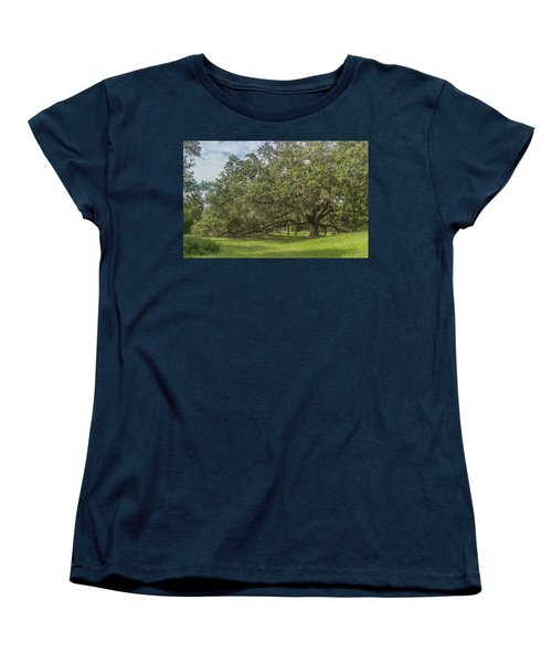Women's T-Shirt (Standard Cut) featuring the photograph Old Oak Tree by Jane Luxton