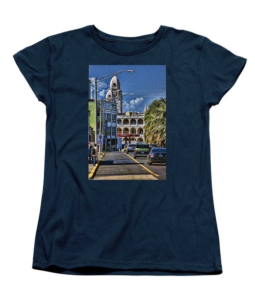 Old San Juan Cityscape Women's T-Shirt (Standard Cut) by Daniel Sheldon
