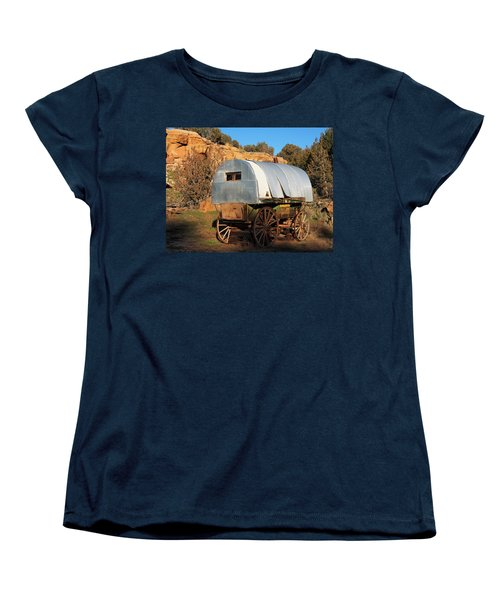 Old Sheepherder's Wagon Women's T-Shirt (Standard Cut) by Nadja Rider