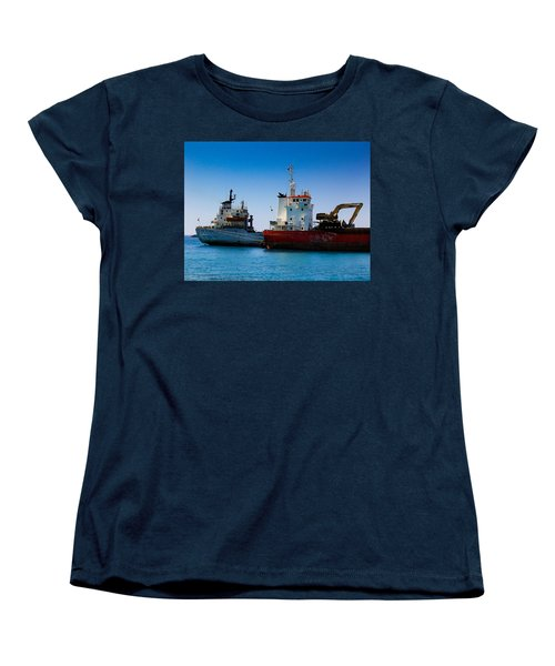 Women's T-Shirt (Standard Cut) featuring the photograph Old Ships by Kevin Desrosiers