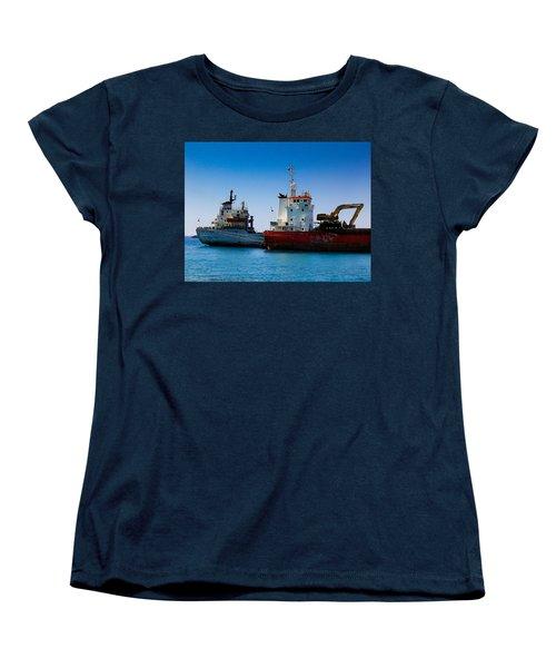 Old Ships Women's T-Shirt (Standard Cut) by Kevin Desrosiers