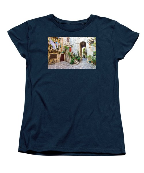 Old Stone Street Of Trogir Women's T-Shirt (Standard Cut) by Brch Photography
