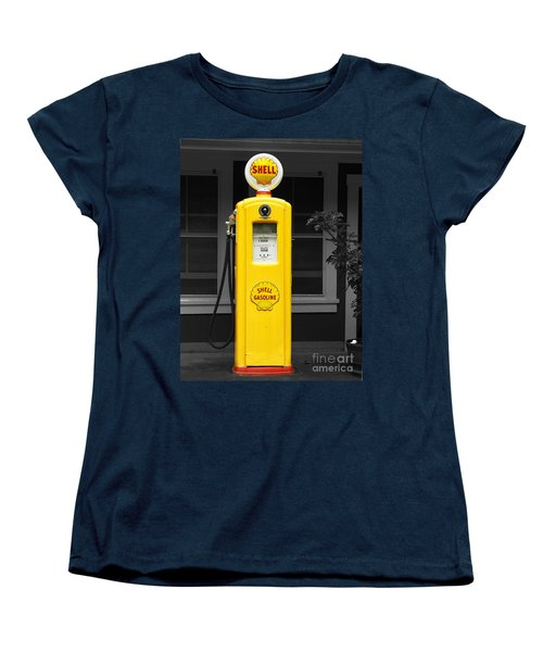 Women's T-Shirt (Standard Cut) featuring the photograph Old Time Gas Pump by David Lawson