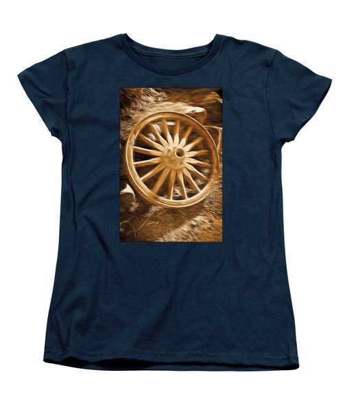 Women's T-Shirt (Standard Cut) featuring the photograph Wheels West by Aaron Berg