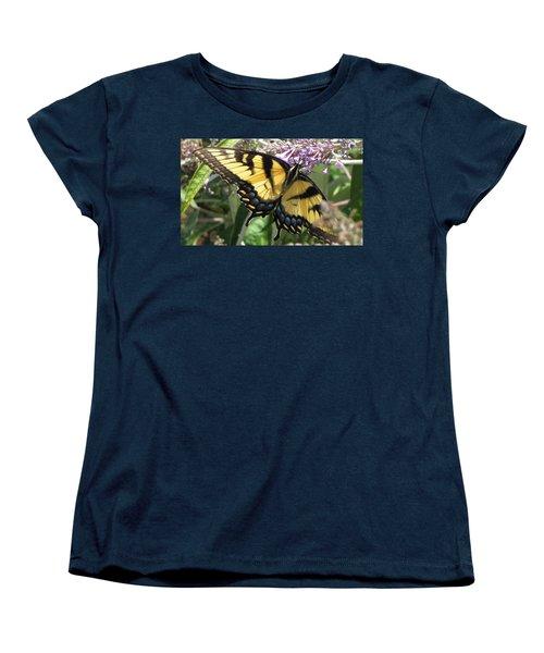 Women's T-Shirt (Standard Cut) featuring the photograph Old World Swallowtail by Jennifer Wheatley Wolf
