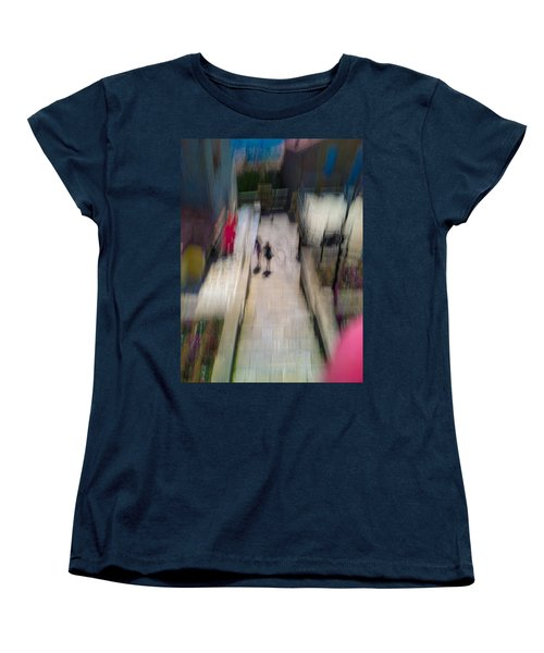 Women's T-Shirt (Standard Cut) featuring the photograph On The Stairs by Alex Lapidus
