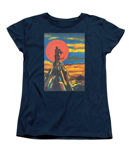 On The Summit Of Love Women's T-Shirt (Standard Cut)