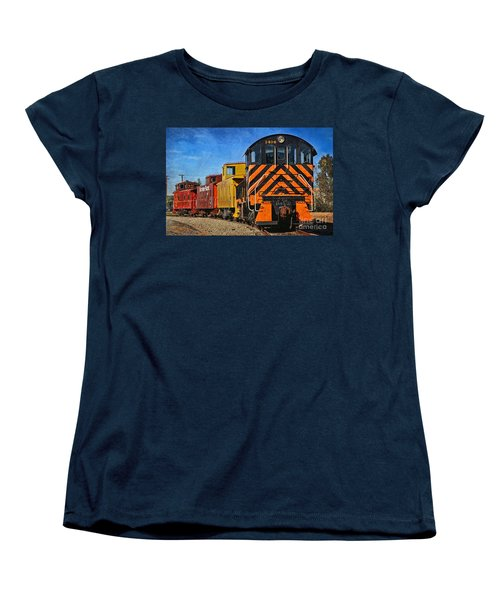 On The Tracks Women's T-Shirt (Standard Cut) by Peggy Hughes