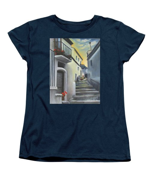 On The Way To Mamma's House In Castelluccio Italy Women's T-Shirt (Standard Cut) by Lucia Grilletto