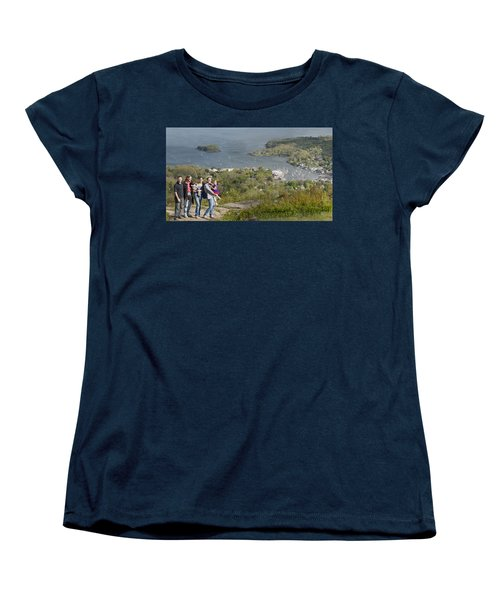 Women's T-Shirt (Standard Cut) featuring the photograph On Top Of Mount Battie by Daniel Hebard