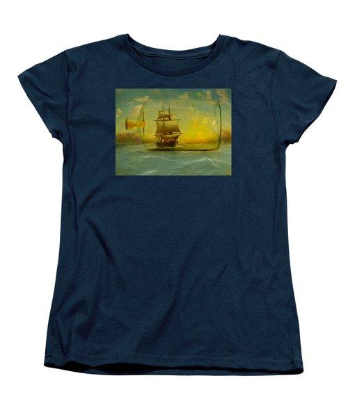 Once In A Bottle Women's T-Shirt (Standard Cut) by Jeff Burgess