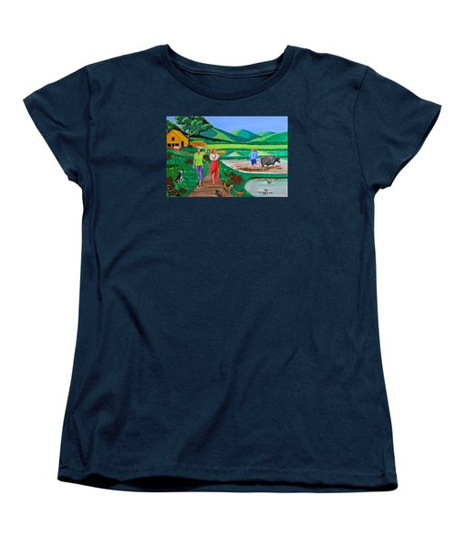One Beautiful Morning In The Farm Women's T-Shirt (Standard Cut) by Cyril Maza