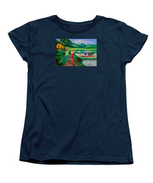 One Beautiful Morning In The Farm Women's T-Shirt (Standard Cut) by Lorna Maza