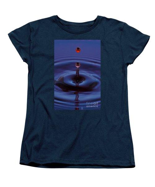 Women's T-Shirt (Standard Cut) featuring the photograph One Drop One Splash by Patrick Shupert