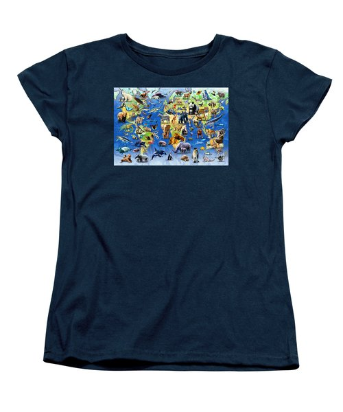 One Hundred Endangered Species Women's T-Shirt (Standard Cut) by Adrian Chesterman