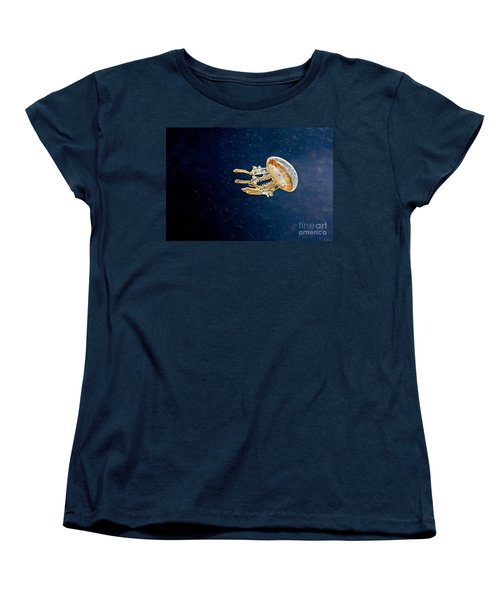 One Jelly Fish Art Prints Women's T-Shirt (Standard Cut) by Valerie Garner