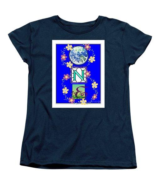 Women's T-Shirt (Standard Cut) featuring the digital art Universal One-ness by Bobbee Rickard