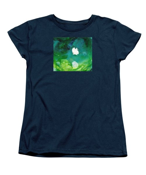 Women's T-Shirt (Standard Cut) featuring the painting One White by Joan Hartenstein
