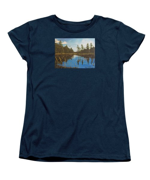 Women's T-Shirt (Standard Cut) featuring the painting O'neal Lake by Wendy Shoults