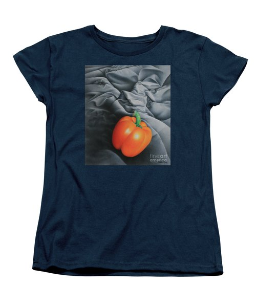 Women's T-Shirt (Standard Cut) featuring the painting Only Orange by Pamela Clements