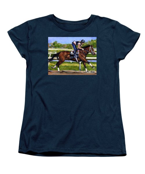 Women's T-Shirt (Standard Cut) featuring the painting Onlyforyou by Molly Poole