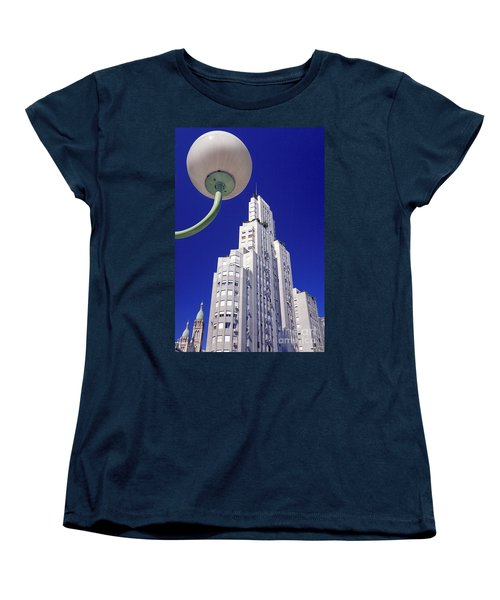 Women's T-Shirt (Standard Cut) featuring the photograph Onyric City by Bernardo Galmarini