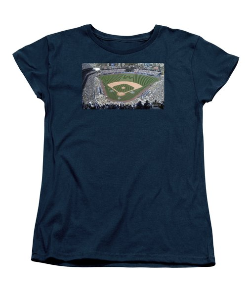 Opening Day Upper Deck Women's T-Shirt (Standard Cut) by Chris Tarpening
