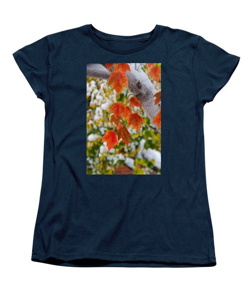 Women's T-Shirt (Standard Cut) featuring the photograph Orange White And Green by Ronda Kimbrow