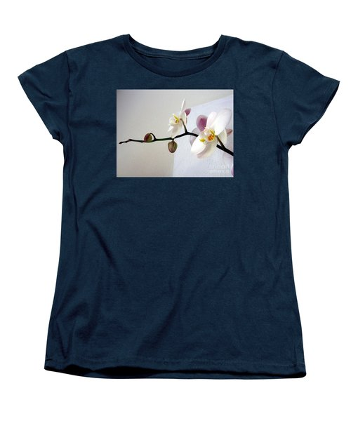 Orchid Coming Out Of Painting Women's T-Shirt (Standard Cut) by Barbara Yearty