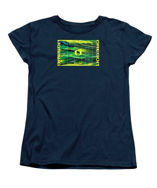 Oregon Football Women's T-Shirt (Standard Cut) by Michael Cross