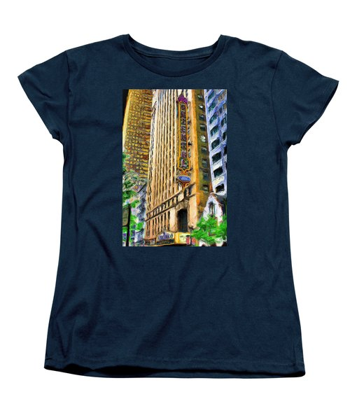 Oriental Theater Of Chicago Women's T-Shirt (Standard Cut) by Ely Arsha